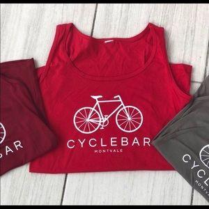CycleBar NWOT Red Bicycle Tank Top M